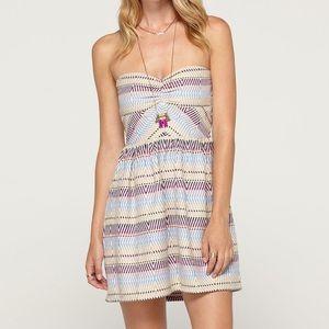 ROXY Fall Doll 2 Strapless Mini Dress